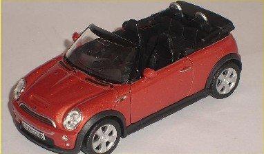 MINI COOPER NEU NEW CABRIO ORANGE CA 1/43 WELLY MODELLAUTO MODELL AUTO