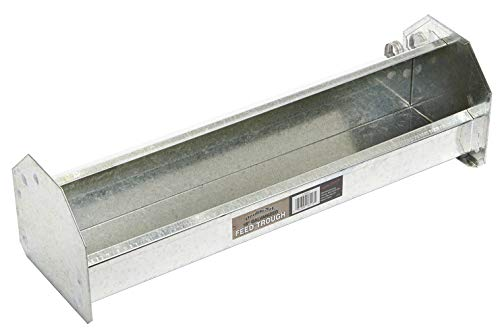 Double-Tuf Metal Poultry Trough Feeder (18 in) Galvanized Steel Poultry Trough Feeder (Item No. DT9851)