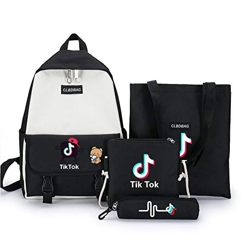 Tik Tok Laptop Backpack Anti-Theft Business Travel Backpacks Port Water Resistant College School Computer Bag for Women & Men Fits 15 Inch Laptop big Space Handbag, Shoulder Bag, Pencil Case /