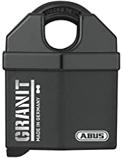 ABUS Graniet hangslot 37/60 #SZP - met veiligheidskaart en sleutel met LED-licht - van gehard speciaal staal - 79150 - niveau 10 - zwart