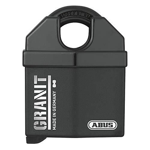 ABUS, Granit 37/60 SZP, 79150, hangslot, premium slot voor de hoogste eisen, veiligheidsniveau 10, incl. 2 sleutels en veiligheidskaart, zwart