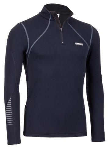 Rono t-Shirt pour Homme Dry II Polo pour Homme à col Montant zippé Noir Noir XXL