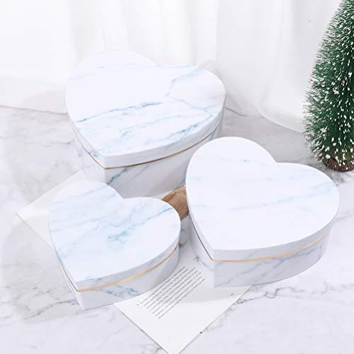 IYSHOUGONG - Caja de regalo de corazón con forma de corazón, caja de regalo vacía, caja de regalo de chocolate, decoración de mesa para envolver flores