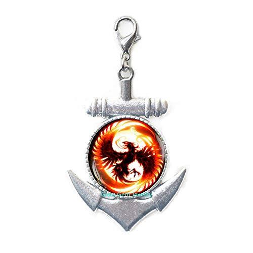Phoenix Anchor - Tirador de cremallera, cierre de langosta de Phoenix, joyería de Pheonix, colgante de Phoenix, para hombre, cierre de ancla, para hombre, Q0060