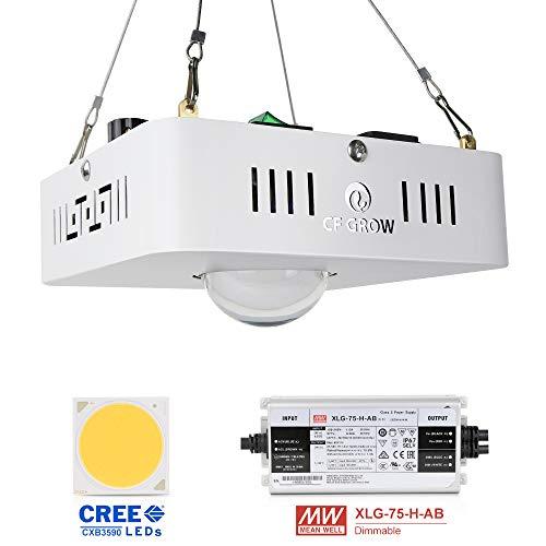 LED Pflanzenlampe, CFGROW Pflanzenlicht Vollspektrum Wachstumslampe CREE CXB3590 COB Dimmbarer MeanWell Treiber Ersetzt Sonnenlicht & HPS 300W Grow Lampe für Zimmerpflanzen Alle Wachstumsstadien