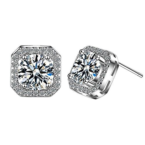 Pendientes Regalo Pendientes de botón para mujer con diamantes Pendientes de botón clásicos para el trabajo y las...
