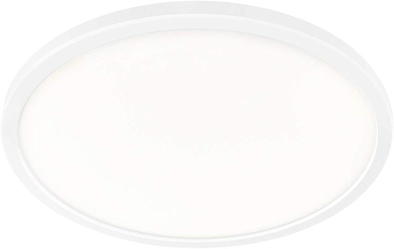 Nordlux LED-Deckenleuchte PLANURA,  42.4cm, Hhe 2.3cm, 22W 2700K 2100lm 120°, mit MOODMAKER Dimmung, Wei EEK  A++ - A