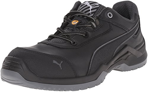 Puma Safety Black Mens Leather Argon Low SD ASTM CT Oxfords Work Shoes 11