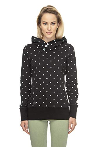 Ragwear Damen Hoodie Chelsea Dots 2011-30020 Black (1010) XXL
