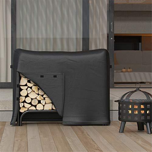 Regal Flame Dura Covers Heavy Duty 4 Foot Black Water Resistant Firewood Log Rack Cover