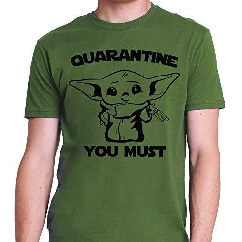 Baby Alien Yoda Quarantine Lockdown Mandalorian Shirt For Women Kids Adults Men