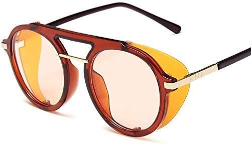 HNsusa Gafas de sol con montura de metal punk Gafas de sol para mujer Gafas redondas de diseñador de lujo Gafas de sol de moda para hombre Gafas de sol vintage 1