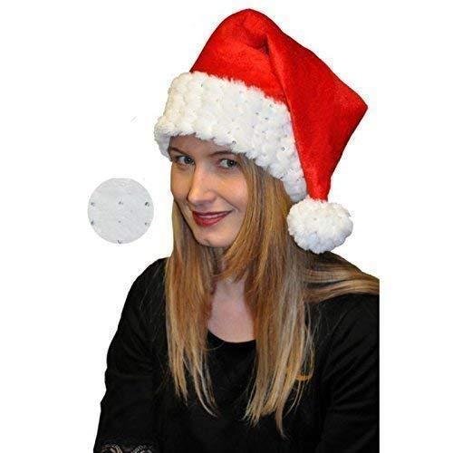 Cappello santa Cristalli di ghiaccio / Paillettes Ideale come Costume babbo natale / Donna natale Accessori