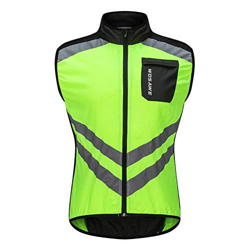 JINGJIE Men Women Cycling Gilet Riding Windbreaker Jacket Vest Waistcoat Reflective Waterproof Skin Short Sleeve Top Light,A,M