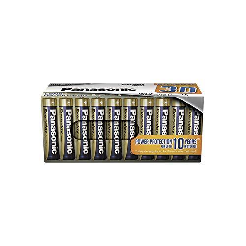 Panasonic EVERYDAY POWER Alkaline Batterie, AAA Micro LR03, 30er Pack in plastikfreier Verpackung, 1.5V, für zuverlässige Energie, Alkali-Batterie