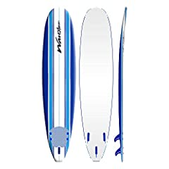 Soft Foam Construction // Strong EPS core with 3 stringer system Soft WBS-IXL ( Water Barrier Skin ) crosslink top deck and rails and High Density (HDPE) Polyethylene slick bottom skin Includes removable bolt thru fins, ankle leash and traction pad D...