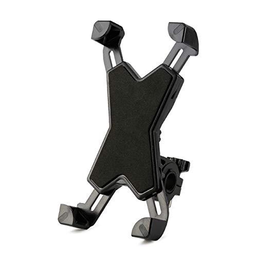 Soporte Universal para Bicicleta y Motocicleta, Abrazadera para teléfono Celular de 4 a 7 Pulgadas (Negro)
