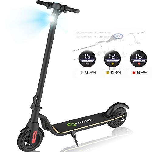 HST Faltbarer Elektroroller 250 W, 22 km Langstreckenbatterie, bis zu 25 km/h, leicht Faltbarer und tragbarer E-Scooter für Kinder und Erwachsene