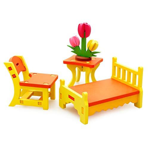 laimoere 1 Conjunto de Colorido muñeca de Madera Miniatura Casa de Accesorios Muebles, Muebles de la casa, Muñeca para niños Adornos de decoración de la casa