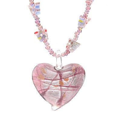 JYZHP - Collar de cristal con forma de corazón y mariposa