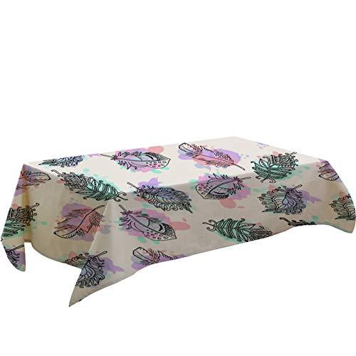 Mantel con Estampado De Flores De Plantas Digitales En 3D, Estampado Floral Azul Púrpura, Mantel Impermeable Y Resistente Al Desgaste, Mesa Y Mesa De Centro Adecuada para Mantel De Mantel