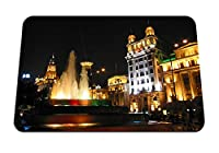 26cmx21cm マウスパッド (上海の外灘の噴水建物明るい夜) パターンカスタムの マウスパッド