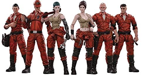 JOYTOY Action Figures 4-Inch Mech Maintenance Team Soldier Figure PVC Military Model Collection Toys (Team B)