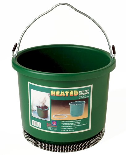 Farm Innovators Model HB-60 Oversized 2-Gallon Heated Bucket, 60-Watt