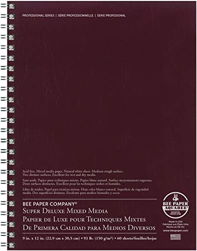 Bee Paper Company 808S60-912 Bee Paper Super Deluxe Sketch Pad, 9-Inch by 12-Inch