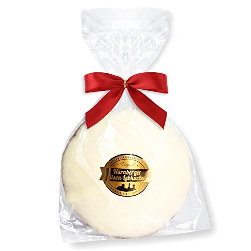 Nürnberger Elisenlebkuchen, einzelverpackt- 80g - Weiße Schokolade - Premium Qualität - Weich & Saftig! - Elisen Lebkuchen ohne Mehl - Elisenlebkuchen kaufen Lebkuchenwelt