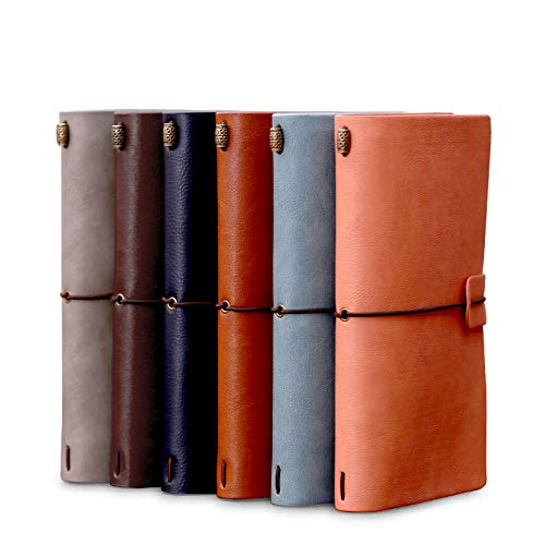 Diario de cuero Vintage Retro clasico viaje diarymemo libreta cuaderno blanco BF