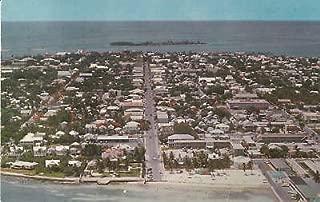 D8546 FL, Key West Aerial View Postcard