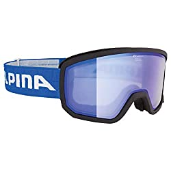 Alpina Sports Unisex - Adult SCARABEO R Skribrille, Black-Blue, One Size