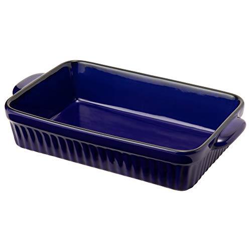 TAMAKI ラザニア皿 ギャザー ブルー 2個セット 直径28.5×奥行16.5×高さ5.5cm 1500ml 直火・電子レンジ・食洗機・オーブン対応 T-775899