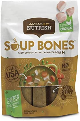Rachael Ray Nutrish Soup Bones Dog Treats Chicken Veggies Flavor 3 Count Packs of 8 product image
