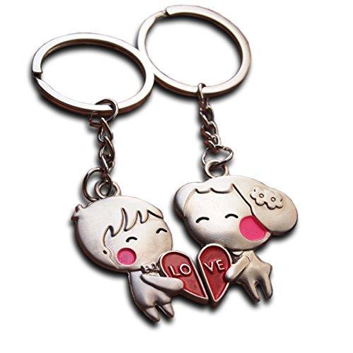 Llavero con diseño de dos enamorados, ideal como regalo de San Valentín, bodas o aniversarios
