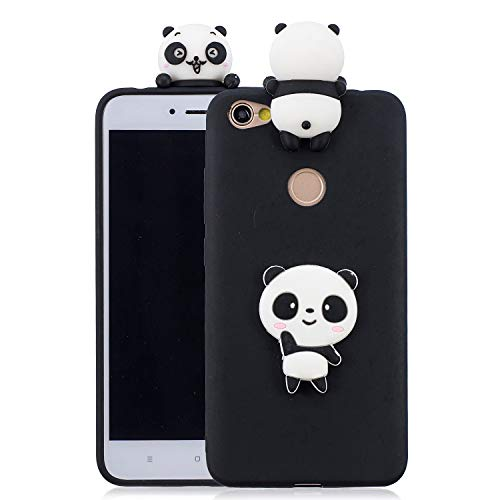 Funluna Redmi Note 5A / Note 5A Prime Hülle Silikon, Weich Rückseite 3D Panda Muster Design Ultra Dünn TPU Silikon Handyhülle Tasche Schutzhülle für Xiaomi Redmi Note 5A / Redmi Note 5A Prime