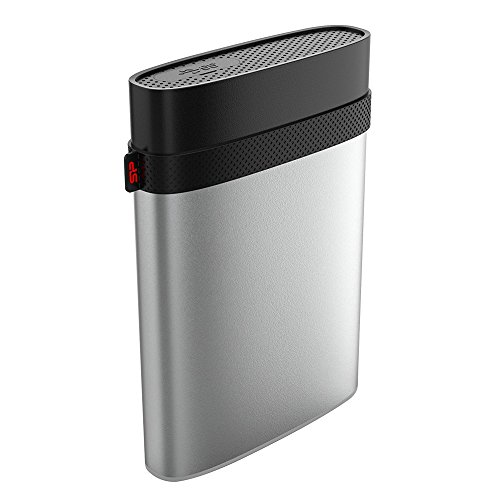 """Silicon Power 4TB Type C USB 3.0 Rugged Armor A85M for Mac Military-grade Shockproof / IP68 Waterproof & Dustproof 2.5"""" External Hard Drive - HFS+ and Time Machine Supported, Silver"""