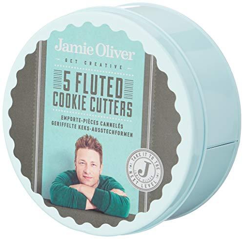 Jamie Oliver JB3810 Emporte-pièces ronds cannelés, lot de 5, étain, Bleu