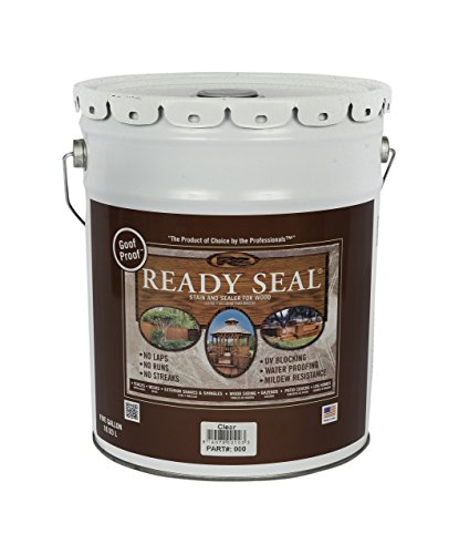 Ready Seal 500 Clear, 5-Gallon Exterior Wood Stain and Sealer, 5 Gallon