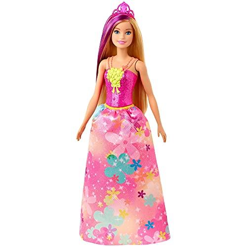 Barbie Dreamtopia Muñeca Hada con top rosa y falta flores (Mattel GJK13)...