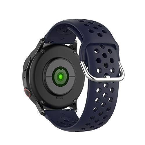KOMI 20 mm 22 mm Silikon-Uhrenarmband, Schnellverschluss, für Damen und Herren, Fitness, Sport, Ersatzarmband, Smartwatch