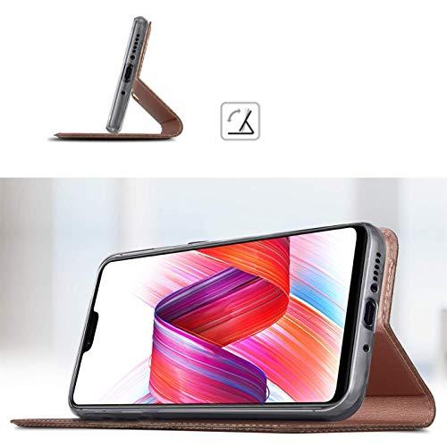 Verco Handyhülle für Mate 20, Premium Handy Flip Cover für Huawei Mate 20 Hülle [integr. Magnet] Book Case PU Leder Tasche, Rosegold