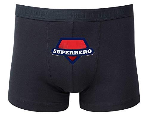 Druckerlebnis24 Boxershort - Superhero Superheld Supermann Figur - Unterhose für Herren und Männer