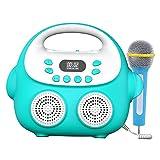 perfeclan Juguete Musical de la máquina del Karaoke del bebé con los Regalos del micrófono de los Muchachos de Las Muchachas para los Viajes al Aire Libre en - Blue