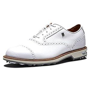 FootJoy Men's Premiere Series-Packard Golf Shoe, White/White, 10