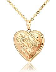 Locket Rose Flower Jewelry Gift for Women