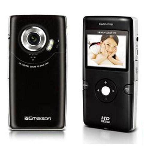 Black Emerson Evc-1700 Digital Video Recorder & Still Camera 5 Megapixel 4x Digital Zoom Built in 64mb 1280x720 Resolution (Black)