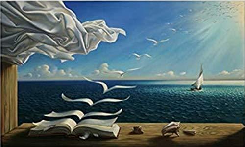 QWEWQE Cuadro en lienzo Salvador Dali, póster artístico, arte abstracto lienzo...