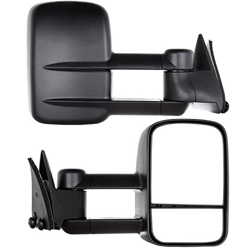 OCPTY Pair Set Towing Mirrors Manual Telescoping Side View Tow Mirror for 1988-1998 for Chevy for GMC CK 1500 2500 3500 (LH+RH)
